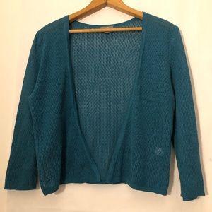J-Jill Cardigan Thin Knit Sweater Sheer Cute Soft